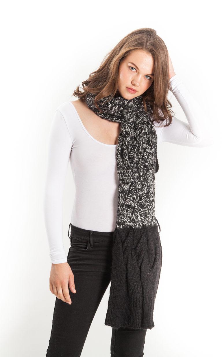 ASTRAET cable scarf alpaca